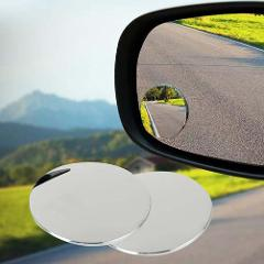 3R Car Rearview Mirror Round Mirror Blind Spot Mirror Wide-angle Lens 360 Degrees Adjustable Rear View Auxiliary