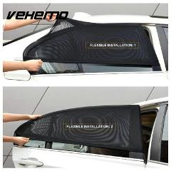 2PCS Car Window Cover Sunshade Sun Shade Curtain UV Protection Shield Pair Visor Mesh Solar Mosquito Dust Protection Car-covers