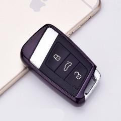 Soft TPU Protection Car Key Case Auto Remote Key Cover Shell For Volkswagen VW 2016 2017 Passat B8 Skoda Superb A7 Car Accessori